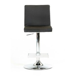 Orren Ellis Clower Contemporary Full Back Adjustable Height Swivel Bar Stool