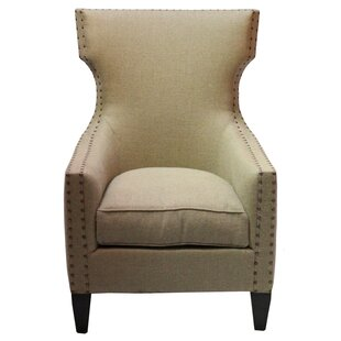 Bascombe Euro Burlap Armchair by Dar by Home Co