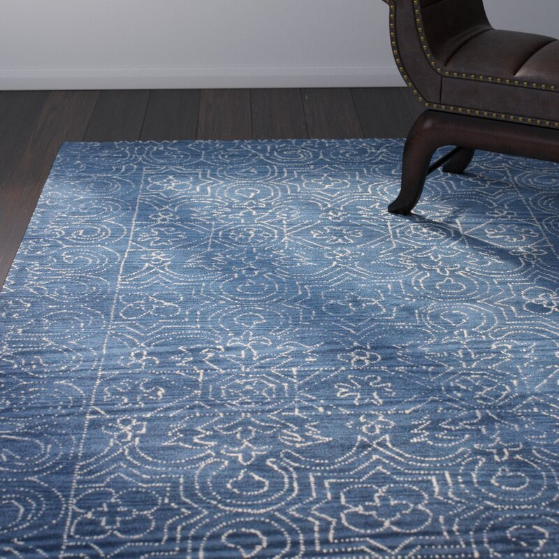 Omar Hand Tufted Wool Navy Area Rug