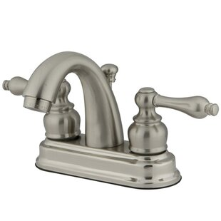 Kingston Brass Restoration Centerset Bathroom Sink Faucet with ABS Pop-Up Drain Image
