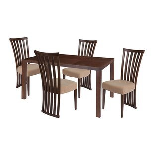 Alec 5 Piece Solid Wood Dining Set by Ebe..