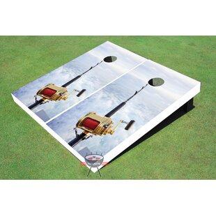 All American Tailgate Fishing Rod Cornhole Board (Set of 2)