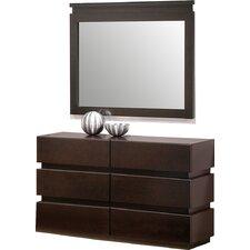 Godin 6 Drawer Dresser with Mirror