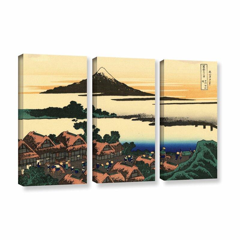 Vault W Artwork Dawn At Isawa In The Kai Province By Katsushika Hokusai 3 Piece Painting Print On Wrapped Canvas Set Wayfair