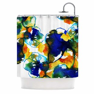 Flora by Sonal Nathwani Abstract Watercolor Single Shower Curtain