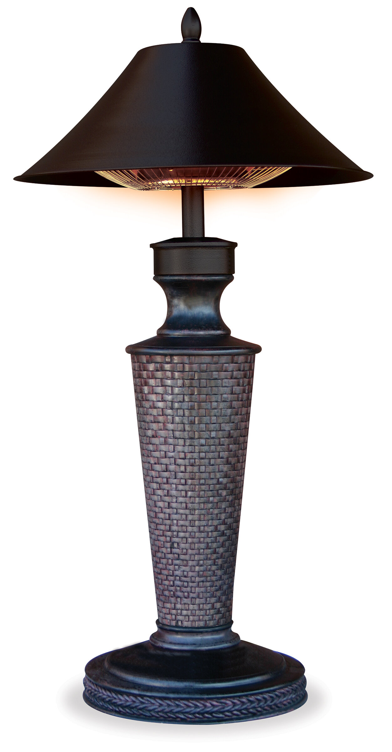 Uniflame Vacation Day 1200 Watt Electric Tabletop Patio Heater