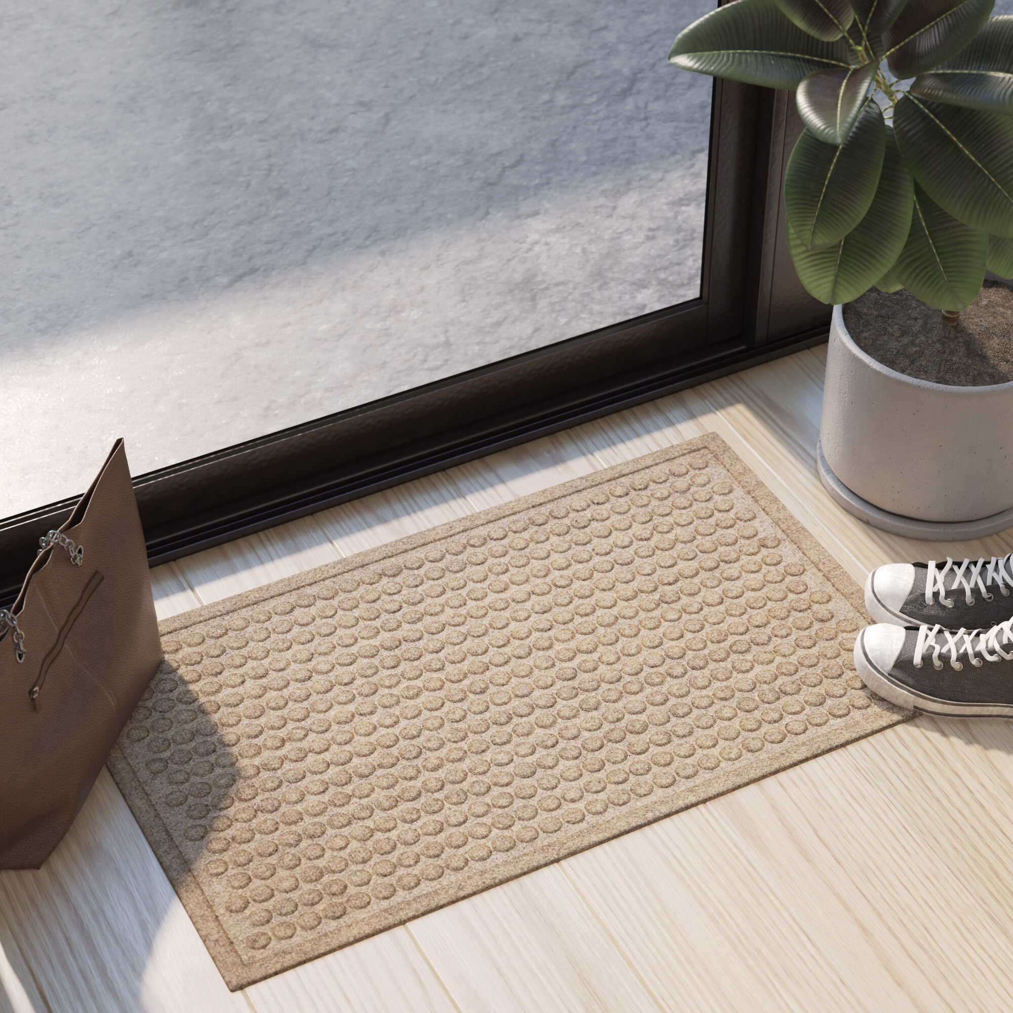Ebern Designs Souvenance Dot Non Slip Indoor Door Mat Reviews Wayfair Ca