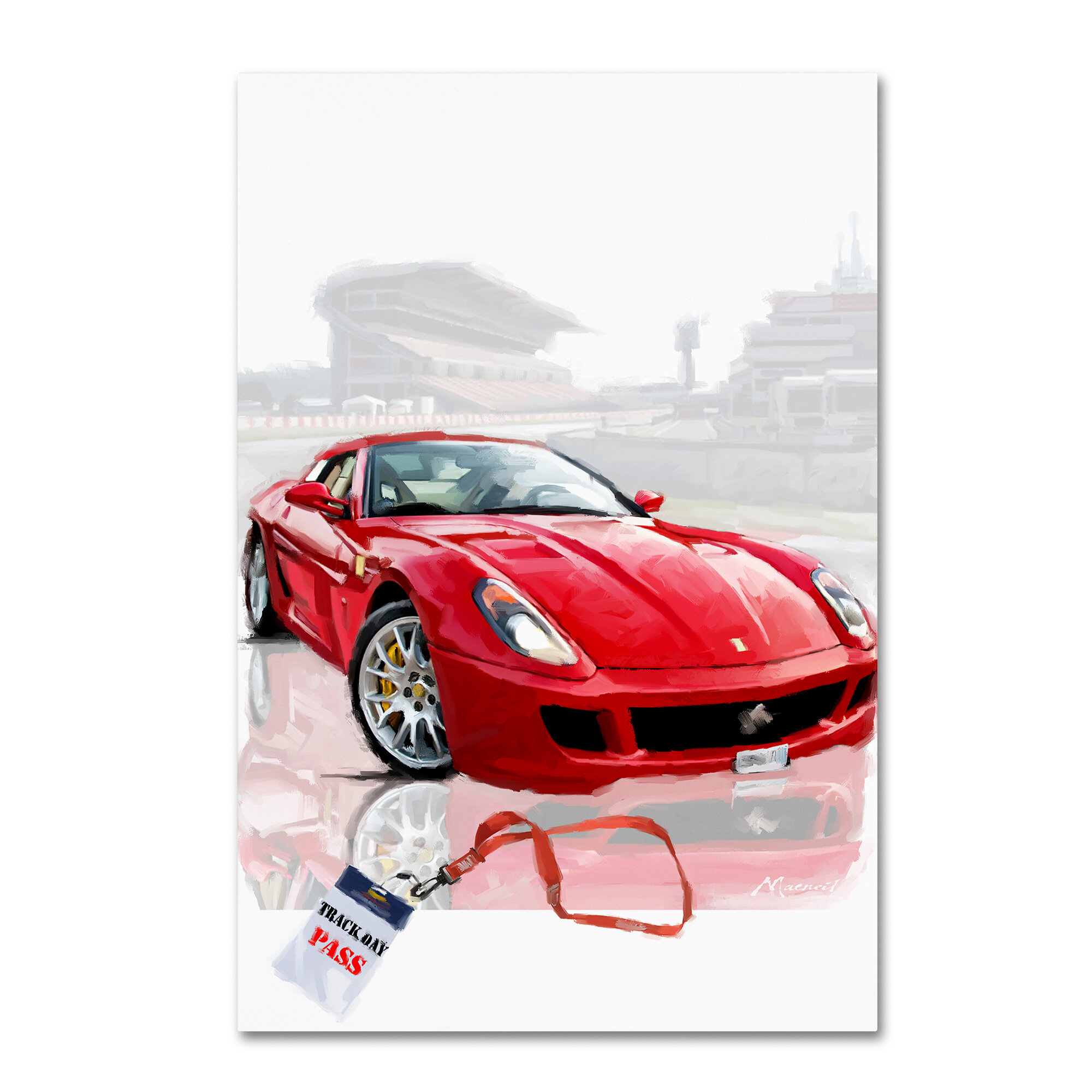 RED FERRARI SPORTS CAR CANVAS PICTURE PRINT WALL ART HOME DECOR FREE DELIVERY