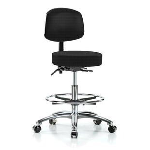 Height Adjustable Doctor Stool with Foot Ring