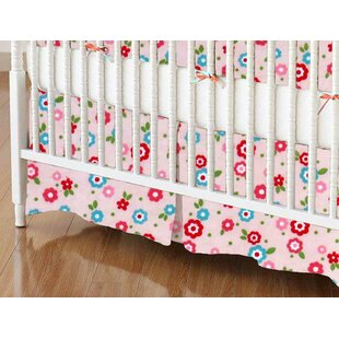 Affordable Price Mini Floral Crib Skirt By Sheetworld