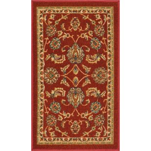 Addieville Red Area Rug by Charlton Home