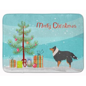 Sheltie/Shetland Sheepdog Christmas Memory Foam Bath Rug