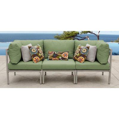 TK Classics Carlisle Patio Sofa with Cushions Cushion Color: Cilantro