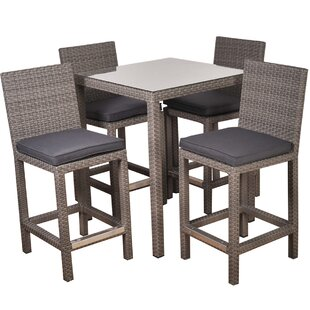 Wrisley 5 Piece Bar Height Dining Set with Cushions