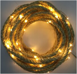 The holiday aisle jute rope 20 warm led light garland wayfair jute rope 20 warm led light garland aloadofball Gallery