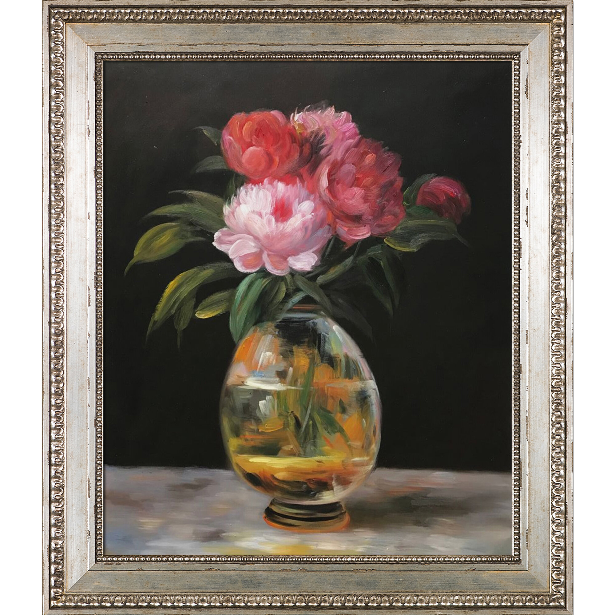 Vault W Artwork Bouquet Of Flowers By Edouard Manet Framed Graphic Art On Canvas In Green Red Wayfair