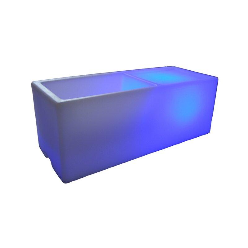 100 Essentials Wireless Illuminated Rectangular Ice Bucket