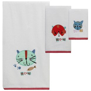 Christmas Kitty 3 Piece Cotton Towel Set