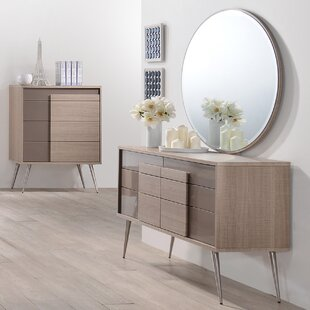 Brazil 6 Drawer Double Dresser with Mirror
