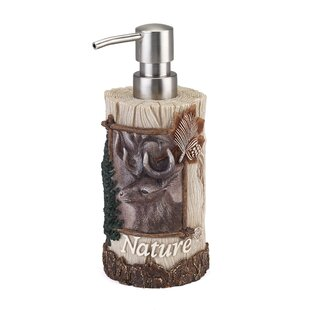 Review Haileyville Nature Soap Dispenser by Loon Peak