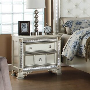 Fairfax Home Collections Tiffany 2 Drawer Nightstand