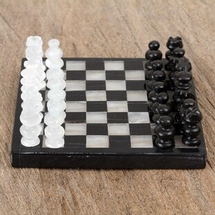 Challenge Onyx and Marble Chess Set By Novica