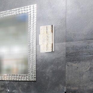 Everly Quinn Shery Modern Crystal 2-Light Wall Bath Bar