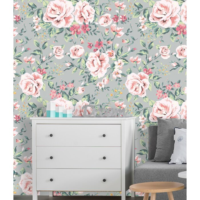 Chatman Removable Vintage Nursery Fl 8 33 L X 100 W And Stick Wallpaper Roll