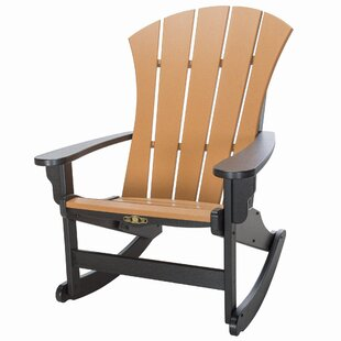 Rosecliff Heights Yeager Plastic Rocking Adirondack Chair