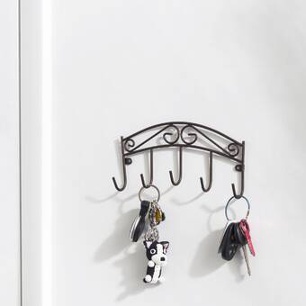 Harriet Bee Boon Bear Wall Key Organizer With Key Hooks Wayfair