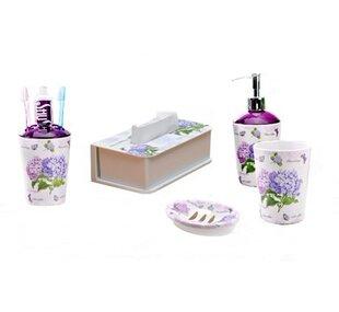 Shall Housewares International Melamine 5-Piece Bathroom Accessory Set