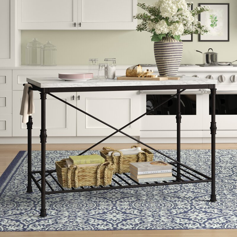 Castille Prep Table with Marble Top