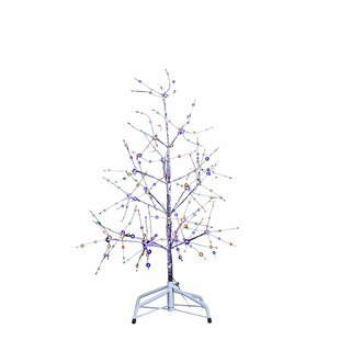36 silver bark artificial christmas tree with 270 led fairy lights