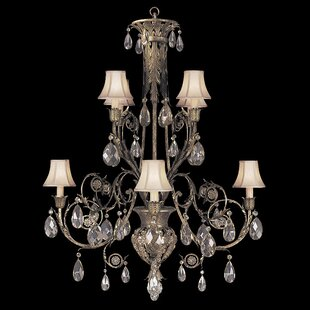 Fine Art Lamps A Midsummer Nights Dream 8-Light Shaded Chandelier
