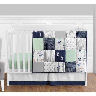 Woodsy 4 Piece Crib Bedding Set