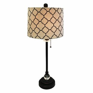 Michaelson Eggshell Moroccan Print 28 Table Lamp (Set of 2)