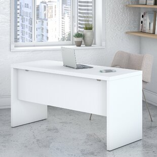 Kathy Ireland Office by Bush Echo Credenza 2 Piece Desk Office Suite