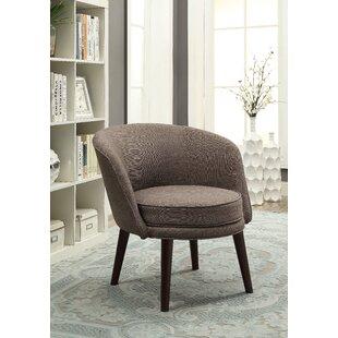 Latitude Run Nhung Solid Barrel Chair