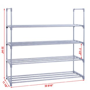 Affordable Price 4-Tier 20 Pair Shoe Rack By Songmics