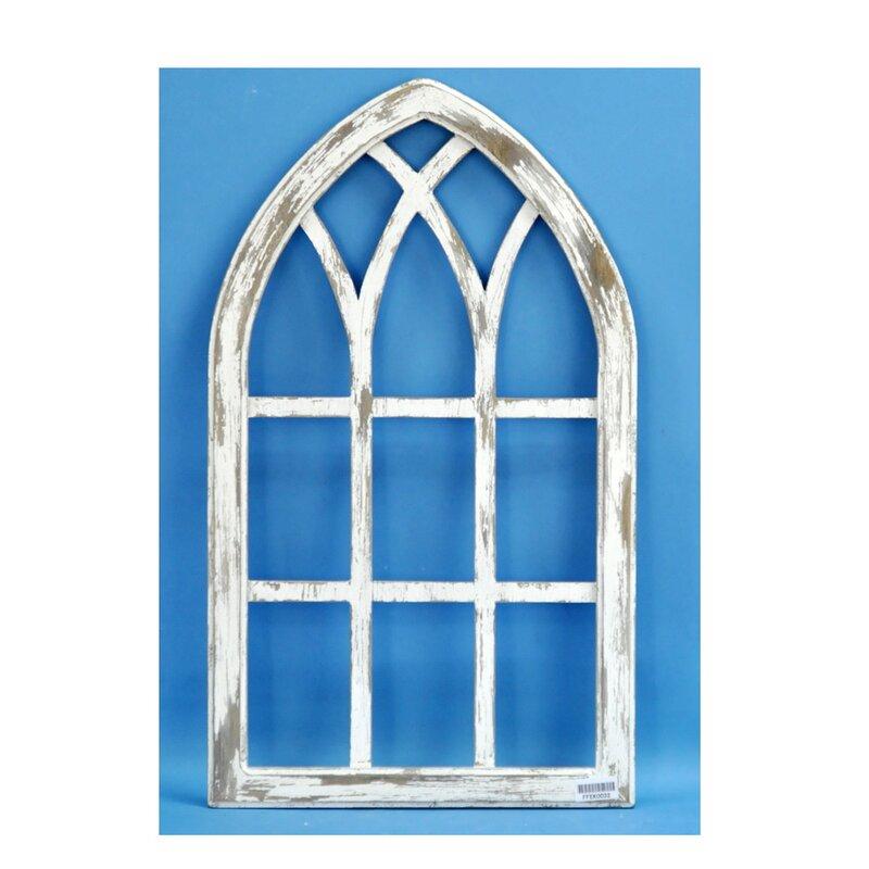 August Grove Wood Window Shape Wall