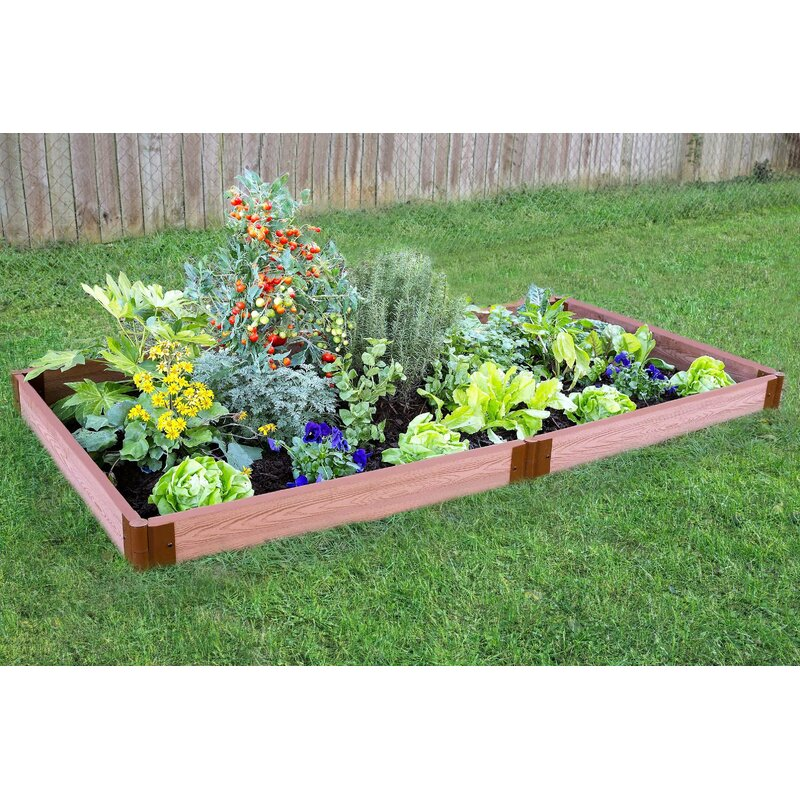 Frame It All Tool Free Classic Sienna Two Inch Series 8 Ft X 4 Ft Raised Garden Reviews Wayfair