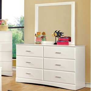 Sabine 6 Drawer Double Dresser with Mirror by Viv + Rae
