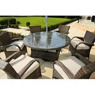 Red Barrel Studio Fager 7 Piece Outdoor Dining Set with Cushions
