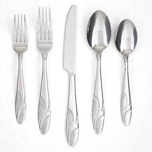 Licorice Sand 20 Piece Flatware Set, Service for 4