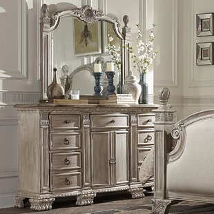 Chirk 9 Drawer Dresser with Mirror
