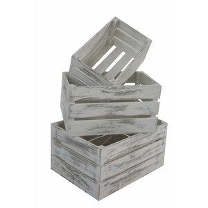 3-tlg. Holzkisten-Set von Home Loft Concept