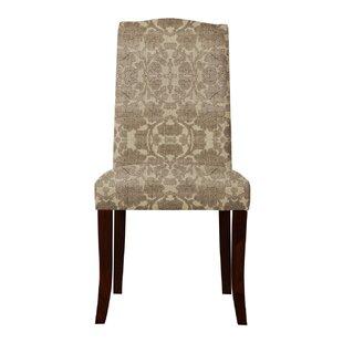 Red Barrel Studio Lasseter Beige/Brown Parsons Chair (Set of 2)