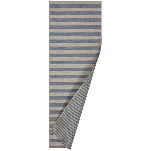 Danny Striped Reversible Blue Rug Breakwater Bay Rug Size: R