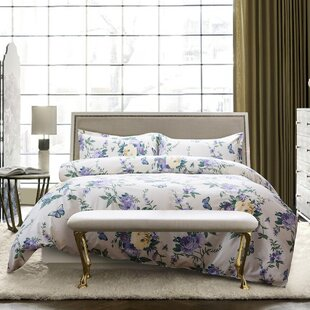 Palou Cabbage Roses Cottage Butterfly Duvet Cover Set