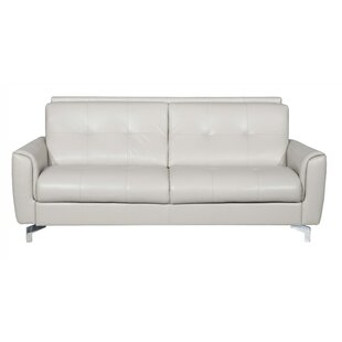 Compare Bensonhurst Leather Sleeper Sofa By Latitude Run